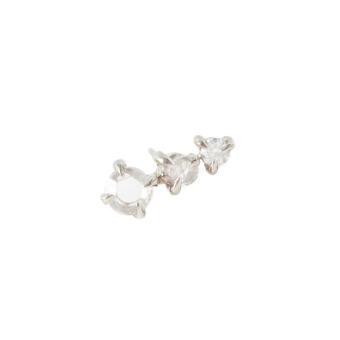 Snow Queen Stud, white gold (SINGLE) image