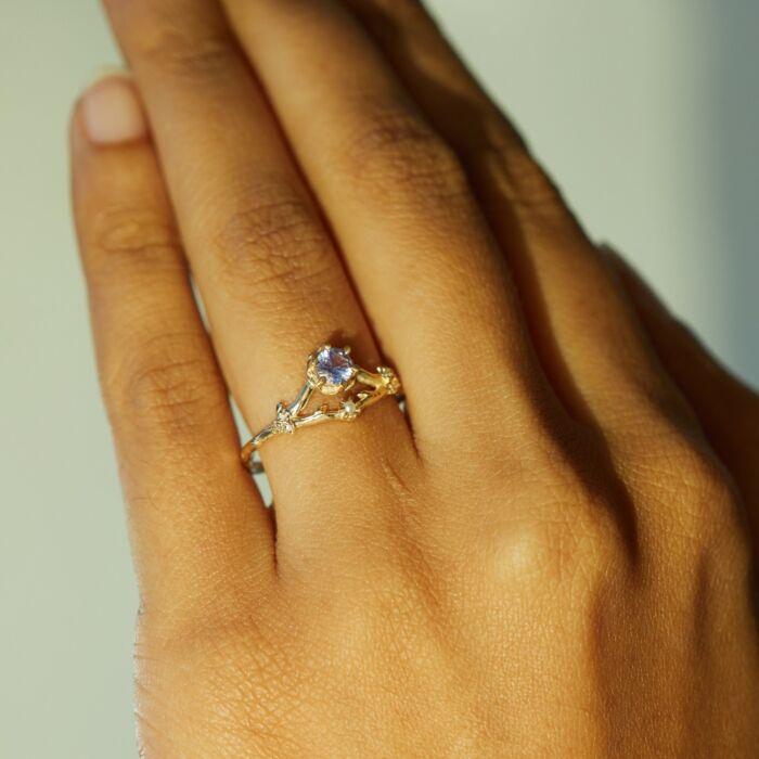 Frida Ring, Lavender Sapphire image