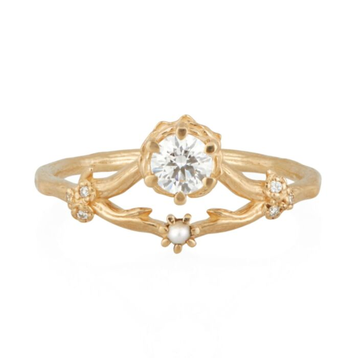 Frida Ring, White Diamond