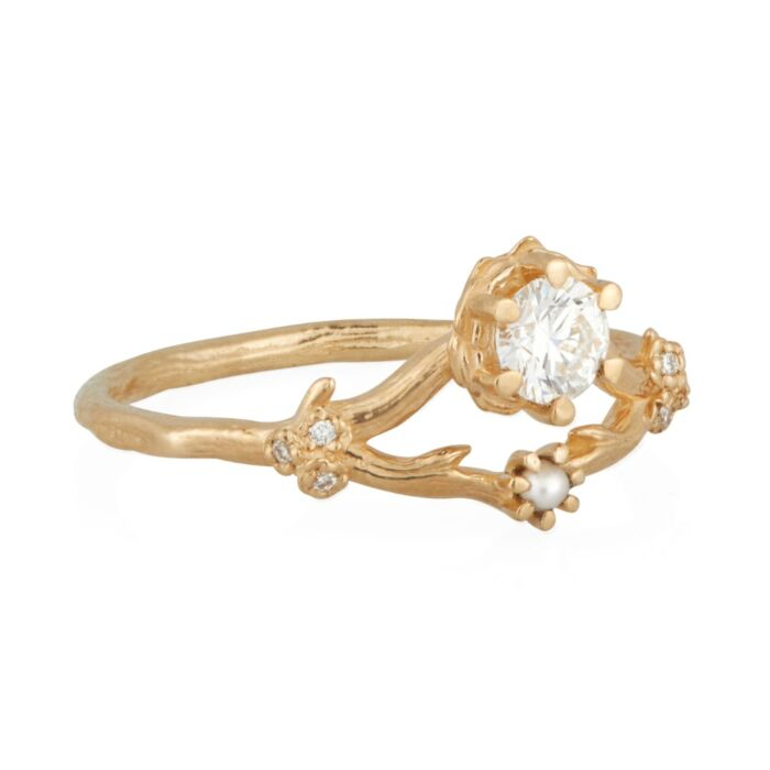 Frida Ring, White Diamond image