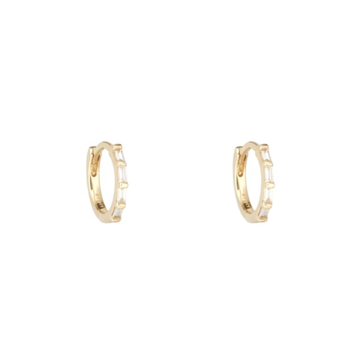 Diamond Baguette Hoop (single)