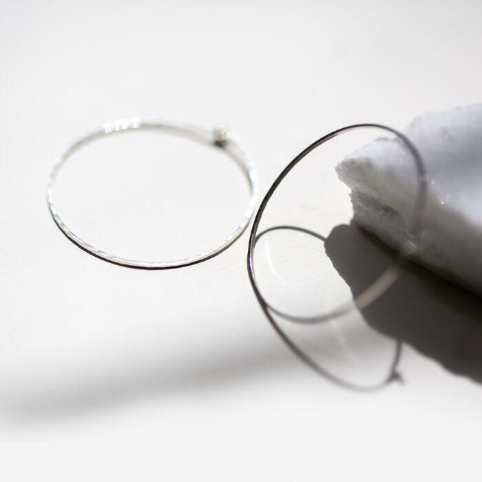 Big Hoop Dream Earrings, Silver image