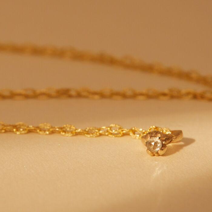 Bitty Diamond Ring Necklace image