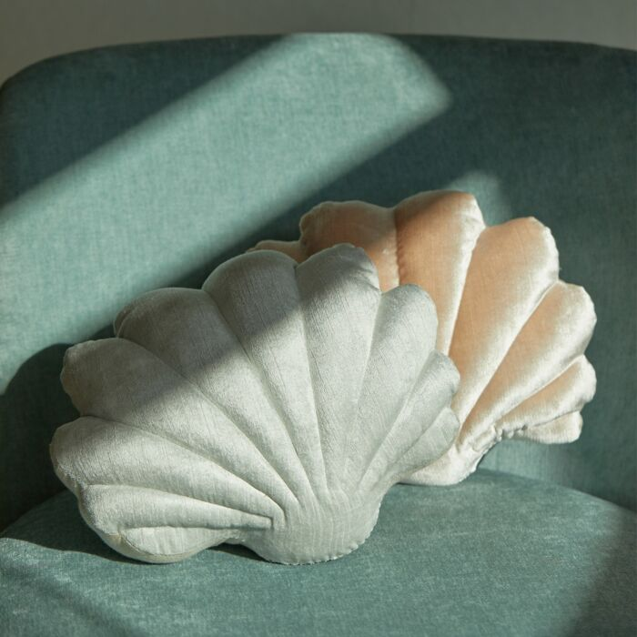 Baby Shell Pillow, Ice Blue image