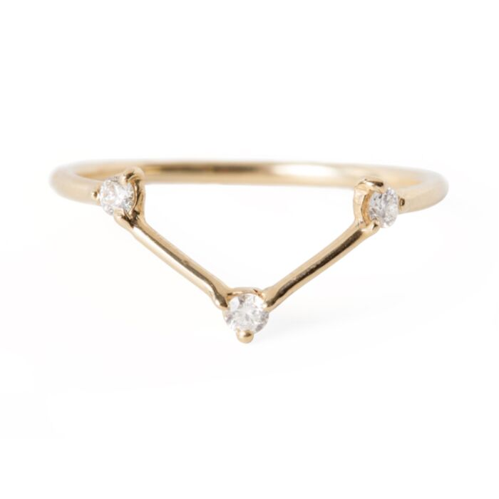 Three Step Triangle Ring