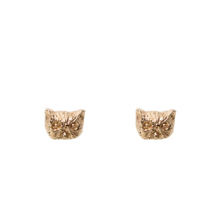 Itty Bitty Kitty Stud, Yellow Gold (single)
