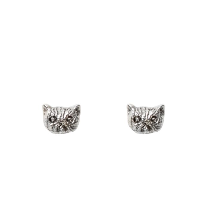Itty Bitty Kitty Stud, Silver (single)