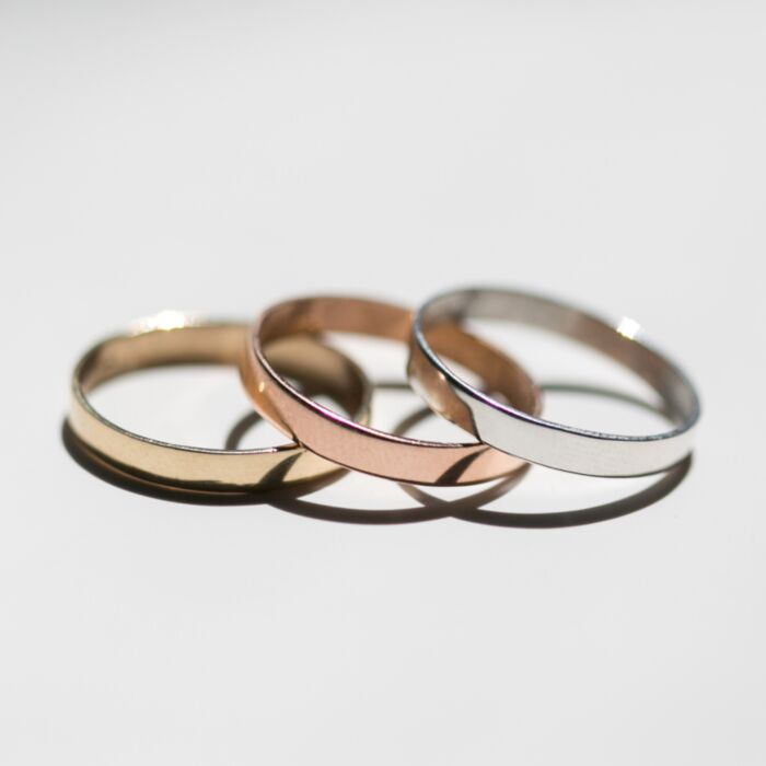 Tomboy First Knuckle Ring, Yellow Gold image