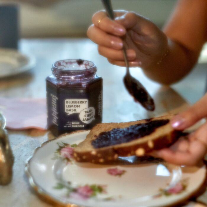 Blueberry Lemon Basil Jam