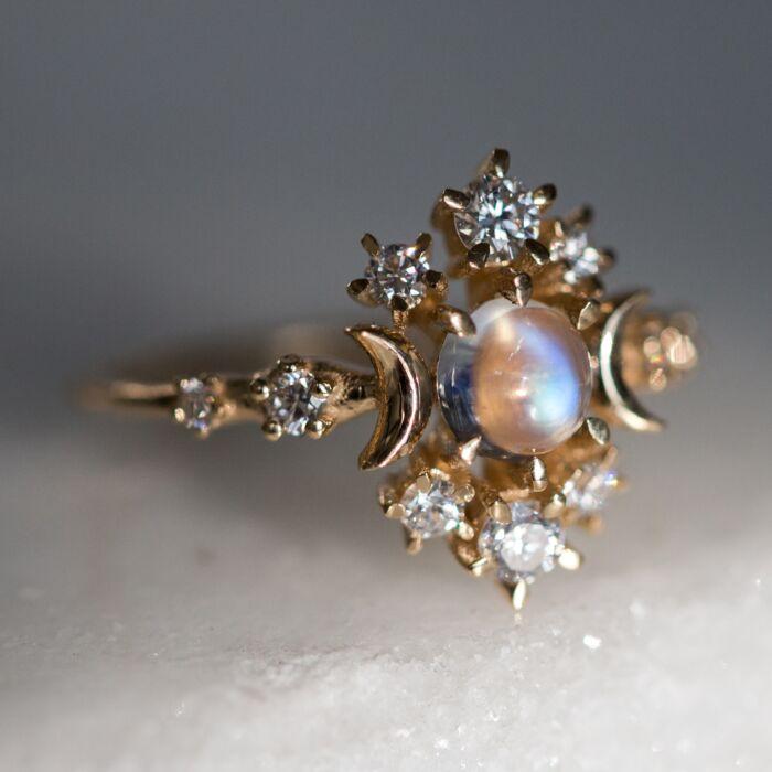Wandering Cosmos Ring, Moonstone image
