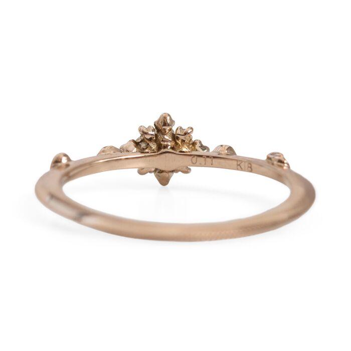 White Lotus Flower Ring image