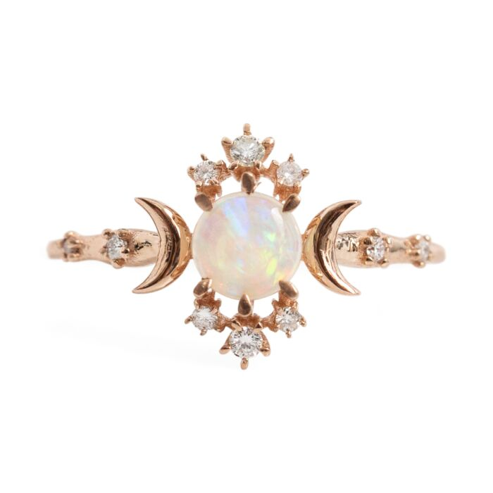 Wandering Star Ring, Opal image