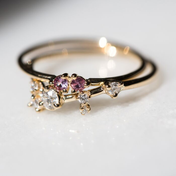 Double Stone Ring image