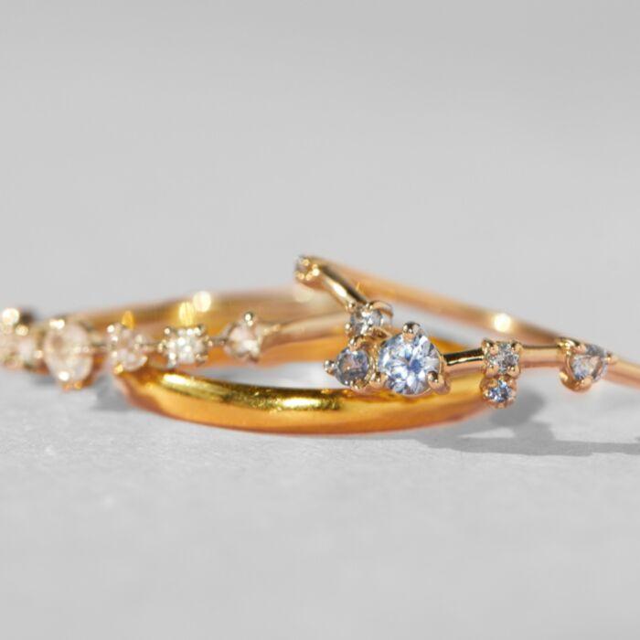 Organic Triangle Ring, Sapphire image