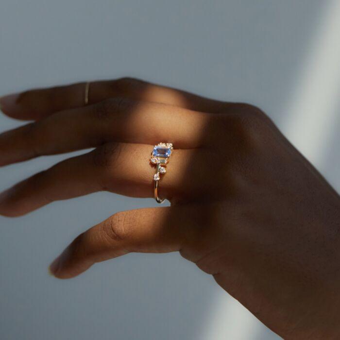 Sapphire Mason Ring