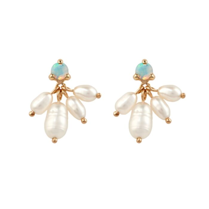 Opal and Pearl Cloudburst Earring (single)