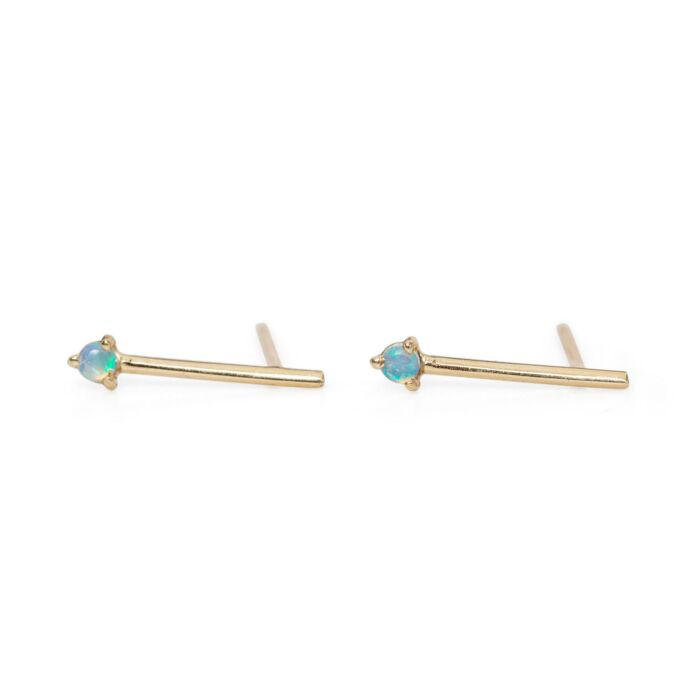 One-Step Bar Earring, Opal (SINGLE) image