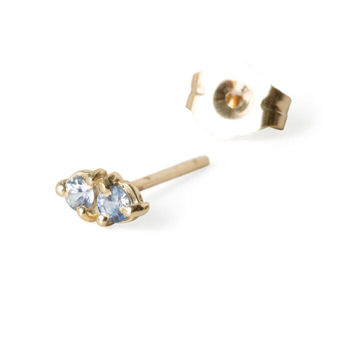 Tonal Two-Step Sapphire Earring (Single)