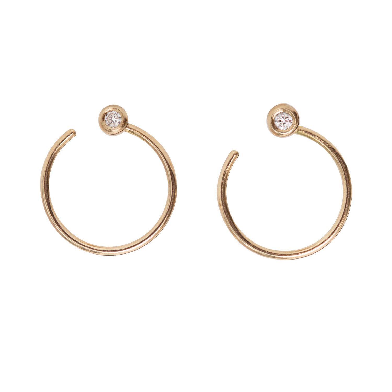 Diamond Ear Nut Earring, Gold (SINGLE) - Catbird