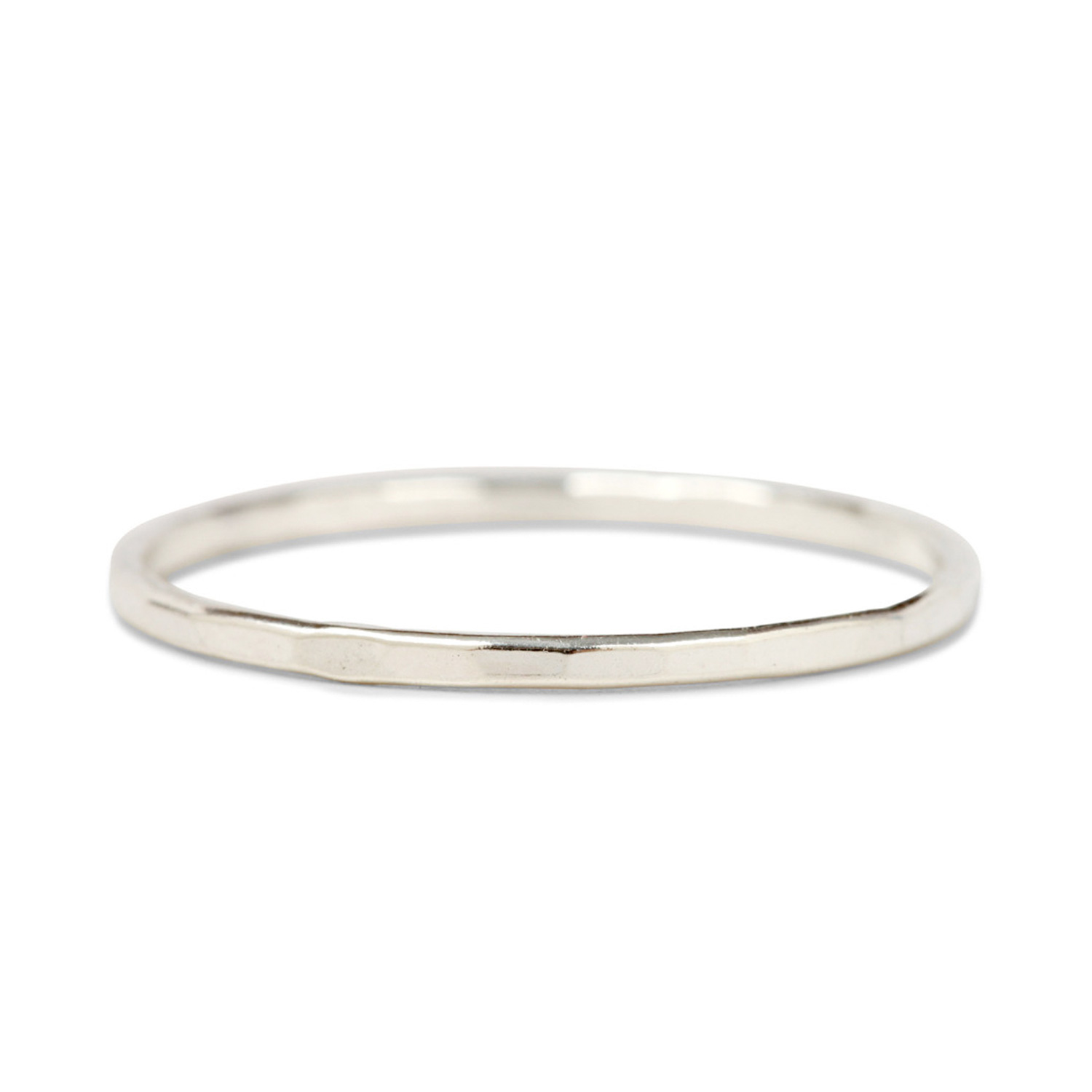 c4b0f41a8 Catbird, Classic Hammered Ring, Silver