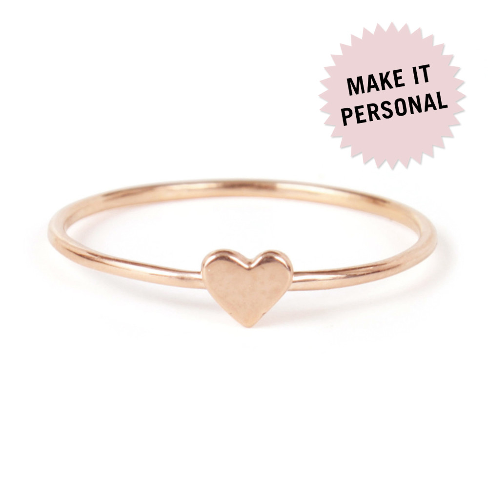 Catbird - Heart Ring, Rose Gold