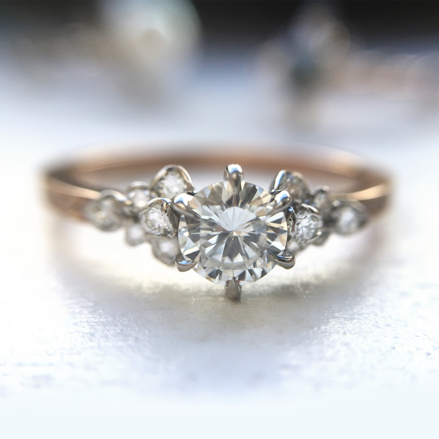 Japanese Rose Ring Engagement Rings Catbird