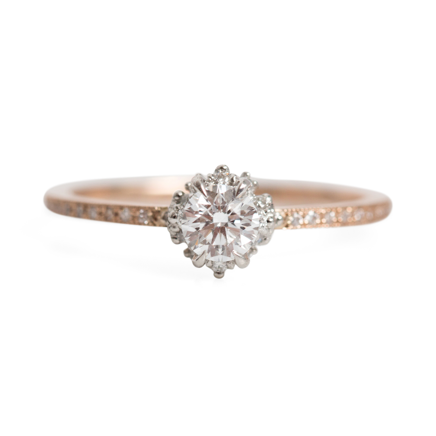 with band bands chupi rose hawthorn classic twig infinity diamond solid products gold ring