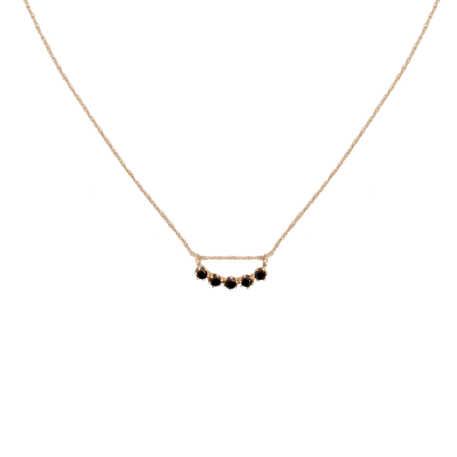 stone necklace round rosegold diamond small closeup and products black s strand pendant