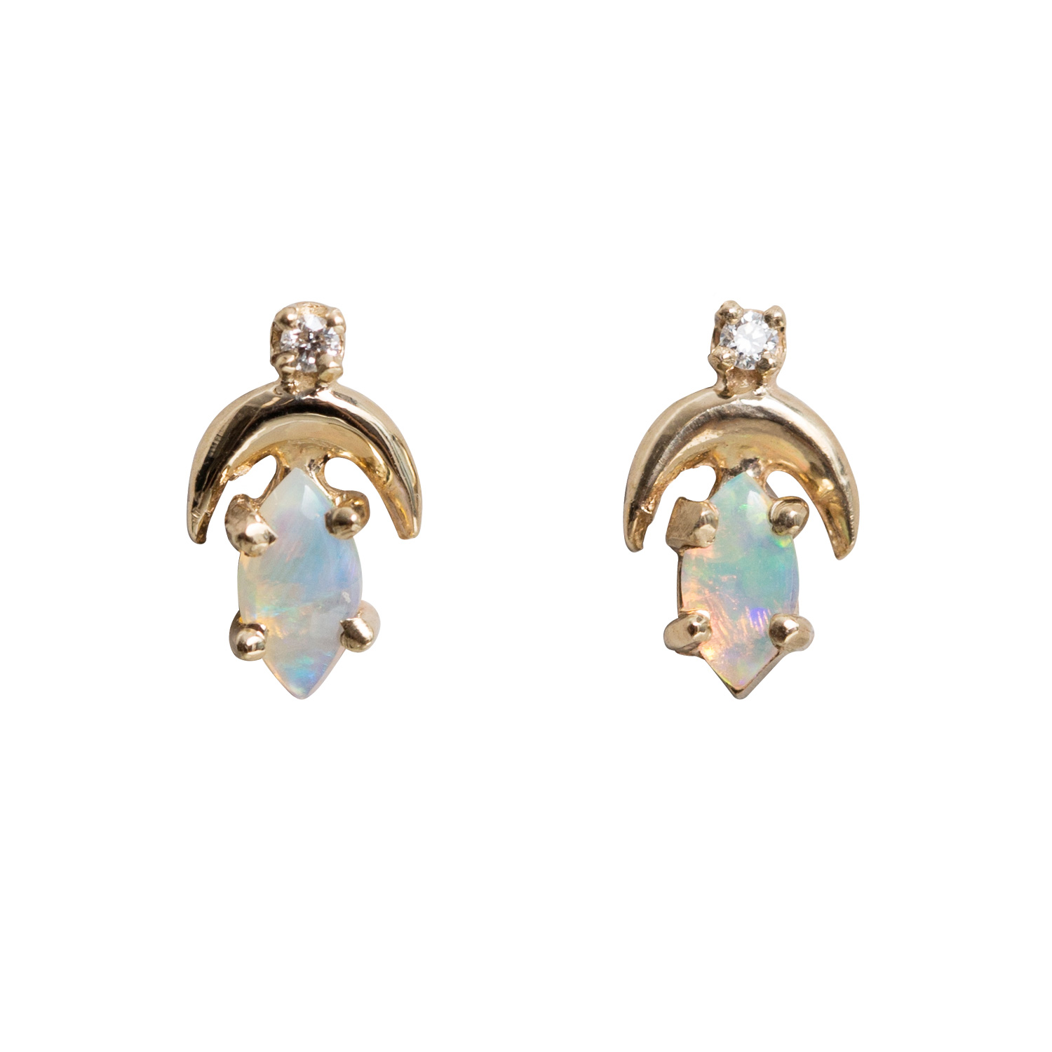 diamonds white ear wwake step earrings catbird four rings fourstepdia