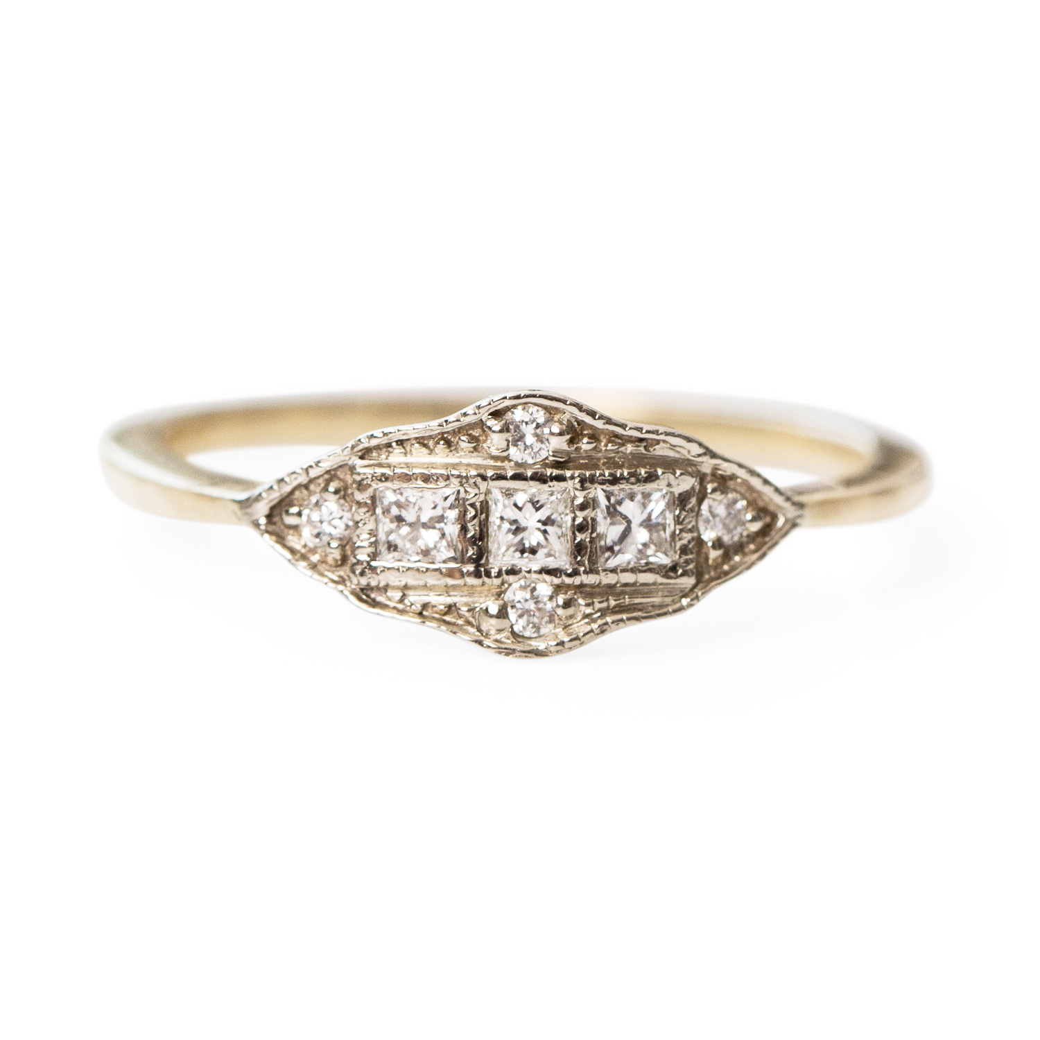 diamond detail classic with collections chalmers ring round engagement jewelers shaped marquise rings milgrain unspecified