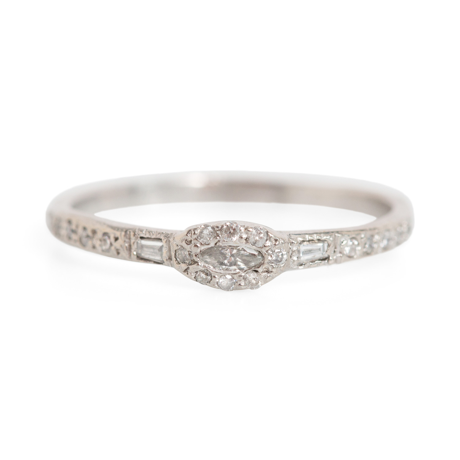 diamond engagement diamonds with baguette tapered sylvie ring collection