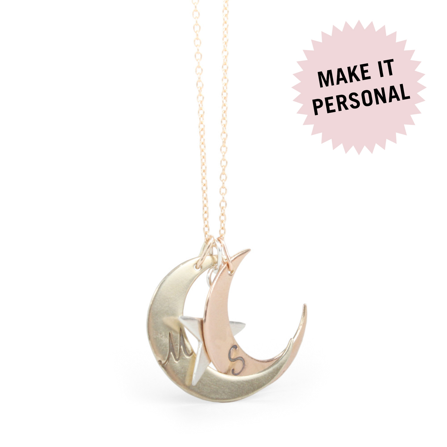 disk l engraved necklace personalized round disc custom necklaces monogram solid gold pendant