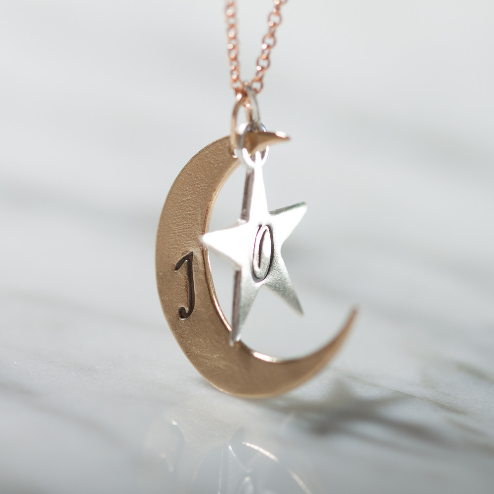 2b65d4219ea92 You are My Moon and Stars Stackable Necklace
