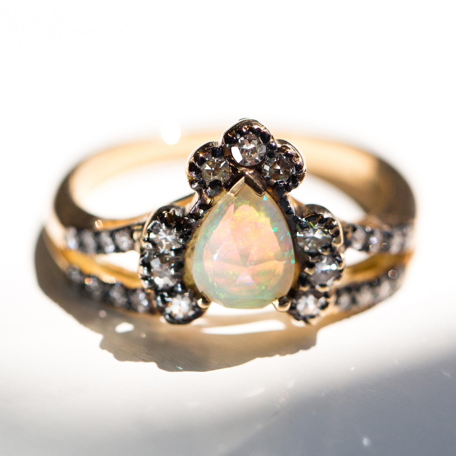 Ritual Solitaire Ring, Opal