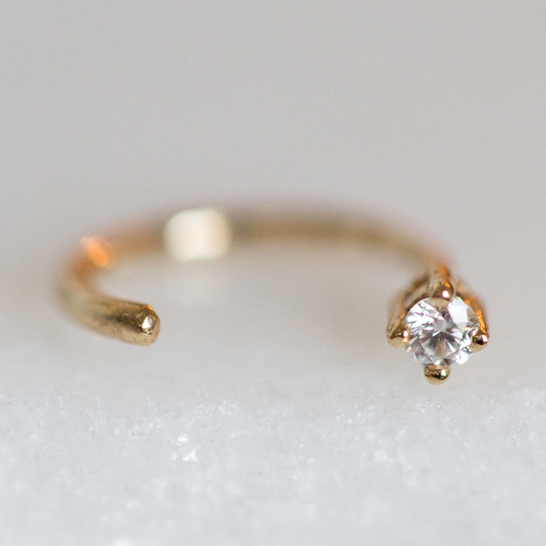 7427b3a539240 Diamond Open Hoop (SINGLE)