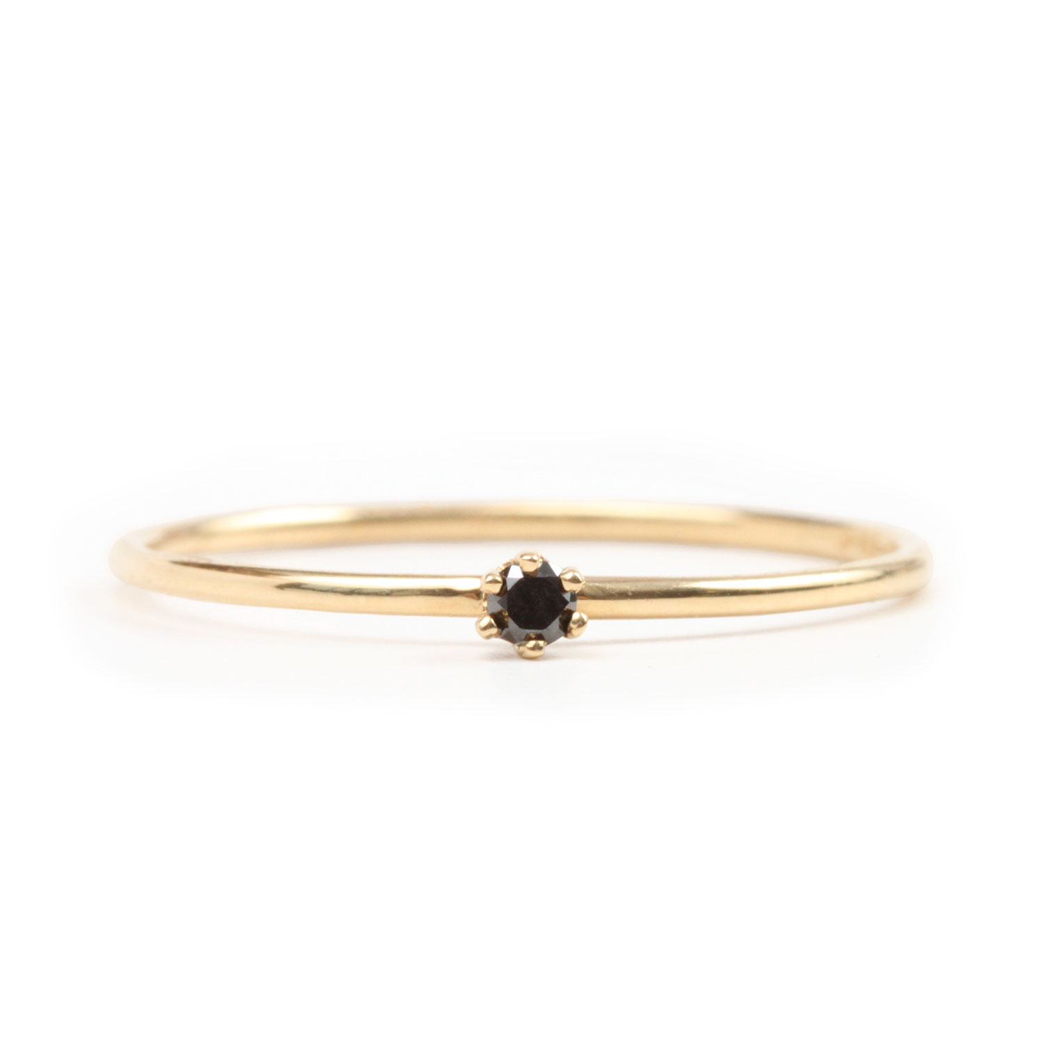 New The Tiniest Ring, Black Diamond - Catbird DA31