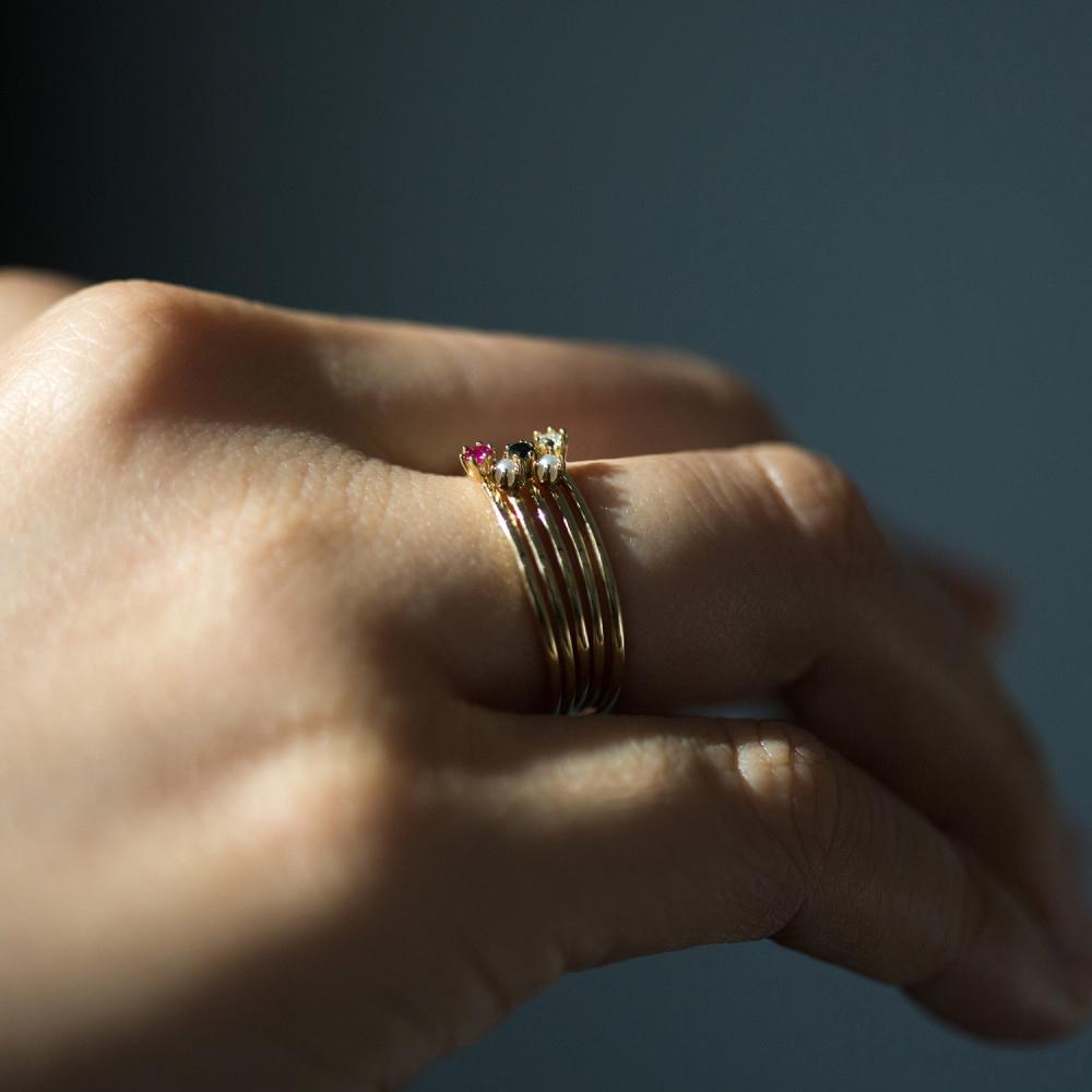 the tiniest ring white diamond