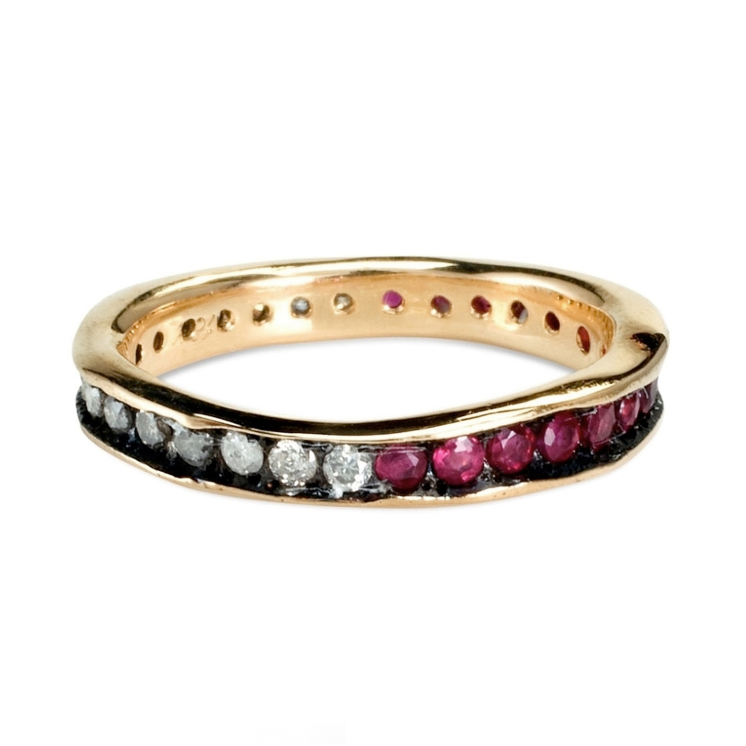 saturn s ring ruby eternity band catbird