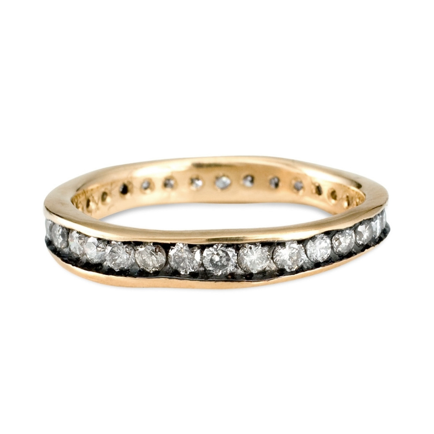 in gold band ct wedding diamond bands rose eternity tw