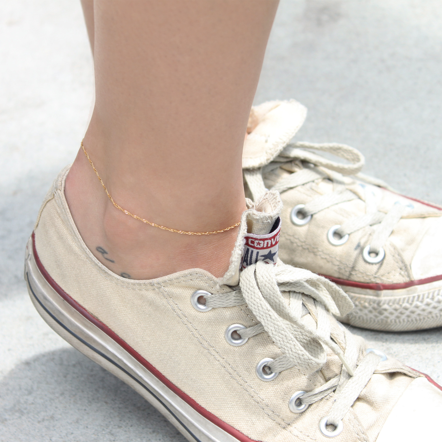 shop with anklet and plated on original bracelet coin product clasp chain ringing silver charm ankle toggle bell