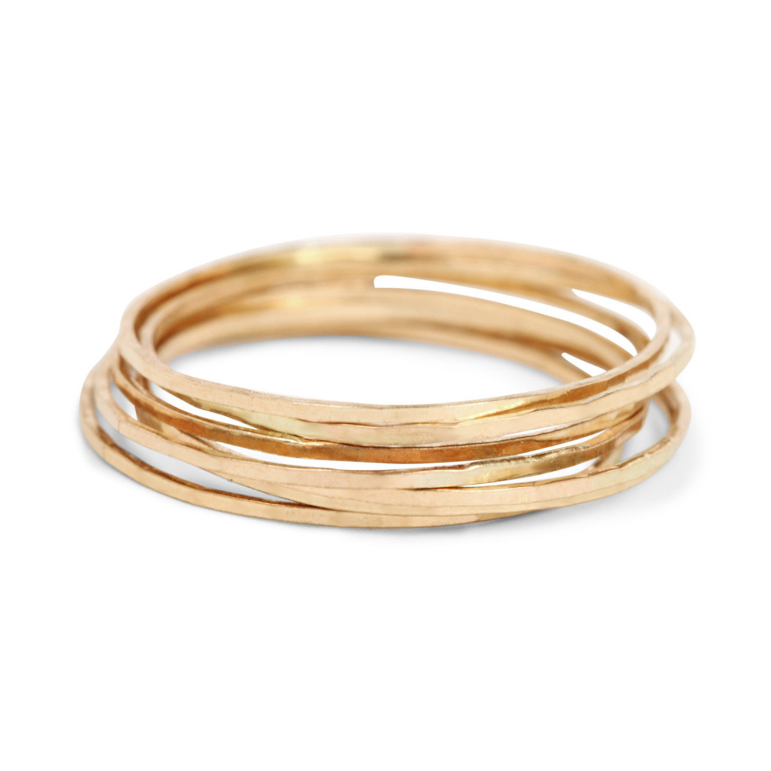 modern stacking thin ring gold products collections original hammered solid rings simple textured img sol