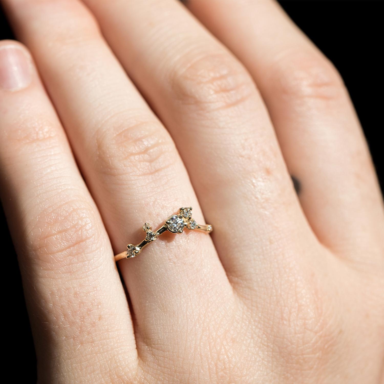 d3d34e8fa292c Organic Triangle Ring, White Diamond
