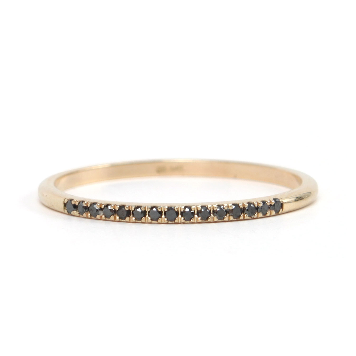fairy light demi pavé black diamond catbird