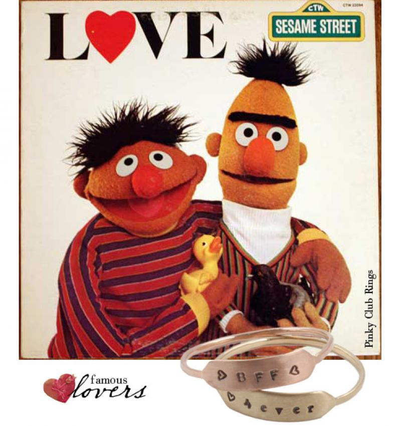 Famous Lovers?: Bert and Ernie.