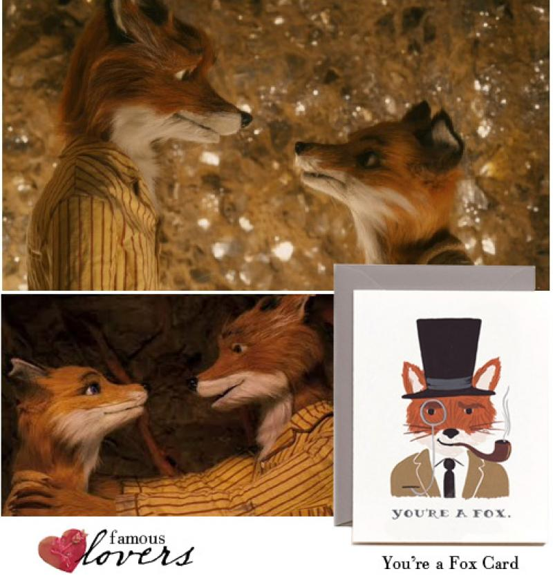 Famous Lovers: Mr. and Mrs. Fox