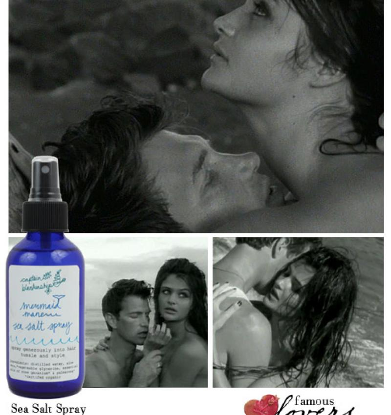 Famous Lovers: Chris Issak and Helena Christensen.