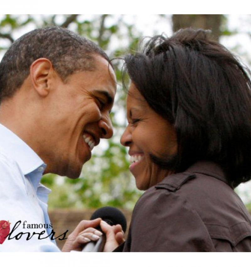 Famous Lovers: The Obamas.