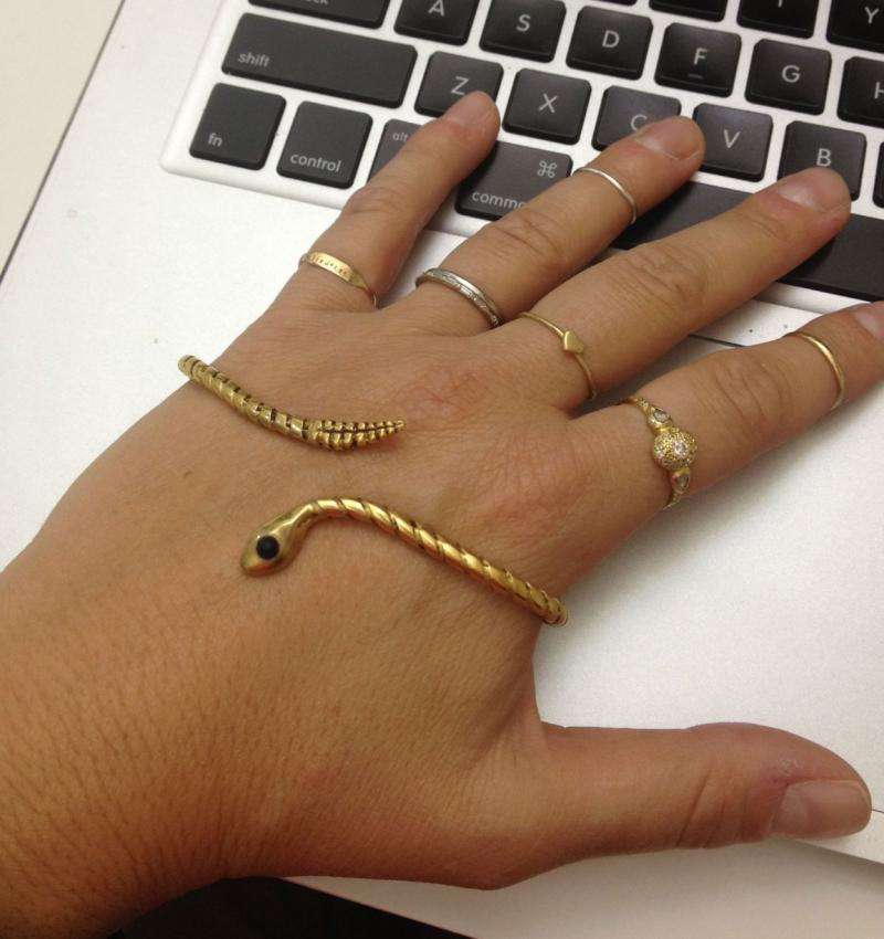 What We Love Today: Snake Hand Bracelet