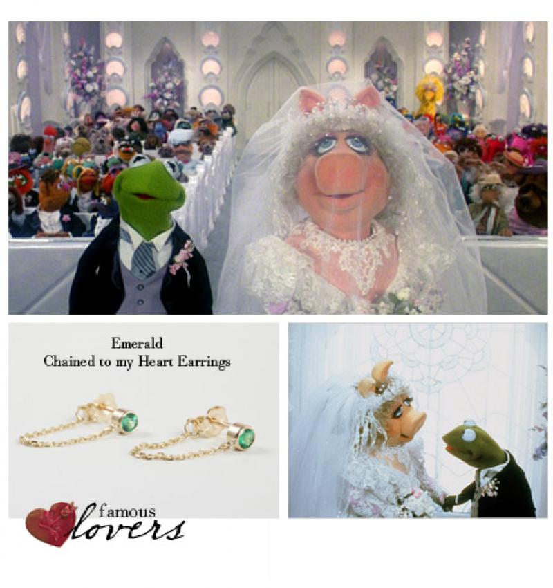 Famous Lovers: Kermit and Miss Piggy