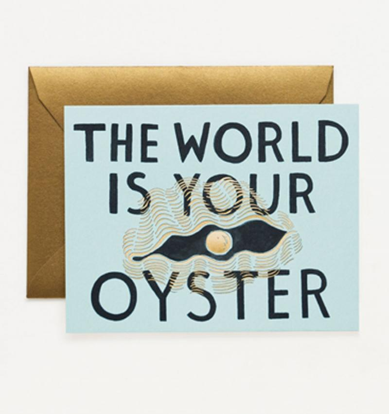 What We Love Today: The World is Your Oyster card.